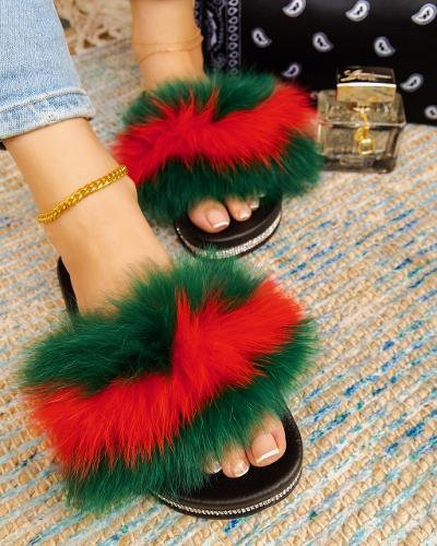 Red and Green Fury Slides