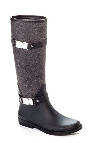Heather Grey Wool Rain Boot
