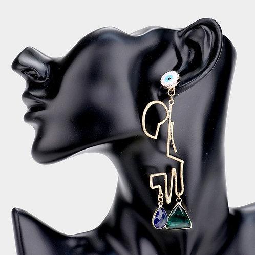 Eye Drop Earrings Blue