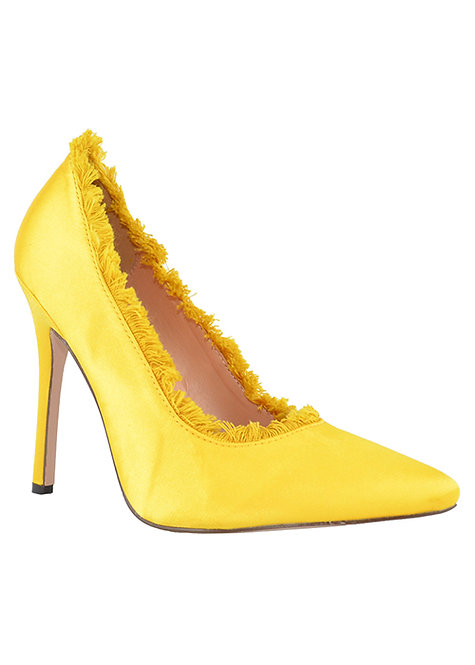 Yellow Satin Pump