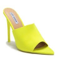 Lime (Yellow) Open Pointed Toe Pump