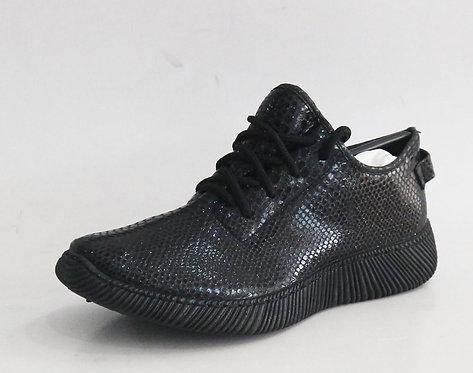 Black Snake Skin Print Sneaker