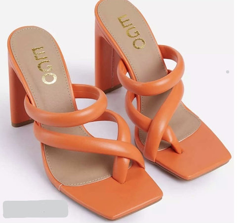 Orange One-Toe Slide