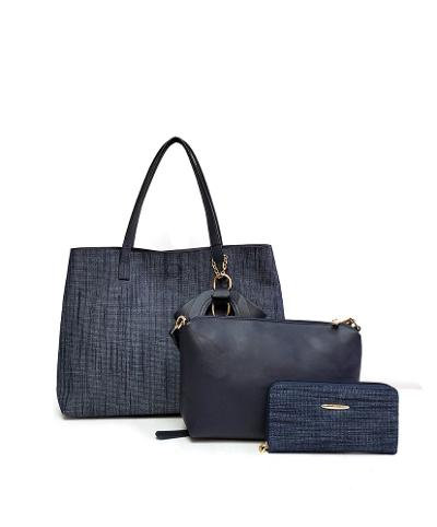 GALIAN Denim 3-piece Tote Set