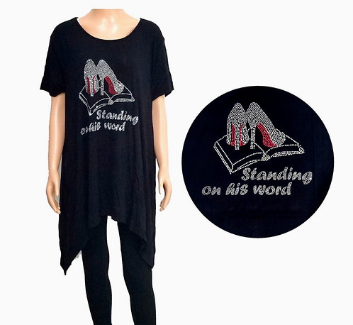 Standing on His Word Crystal Embellished Top