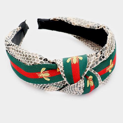 Python Red and Green Headband