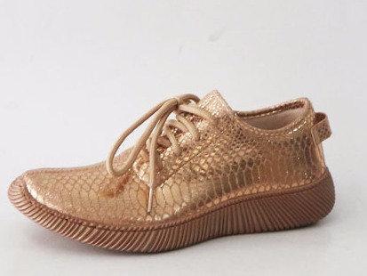 Rose Gold Snake Print Sneaker