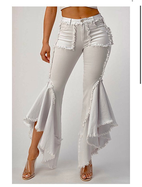 White Denim Flare Jeans
