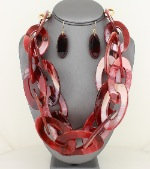 Merlot link Necklace set