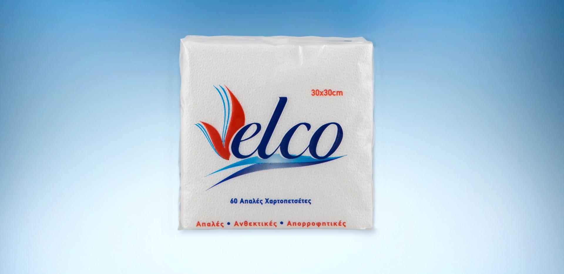 Velvet velco white napkins 100gr