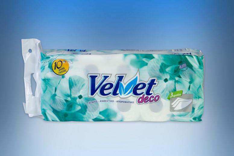 Velvet deco 3-ply toilet paper roll 100gr