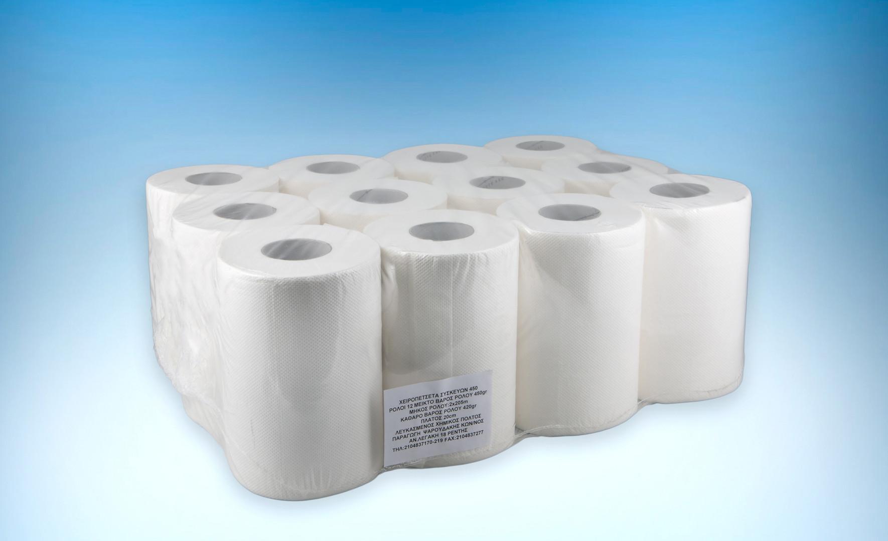 Ρολο χειροπετσετα συσκευων με αποσπωμενο μαδρεν 450 γραμμαριων