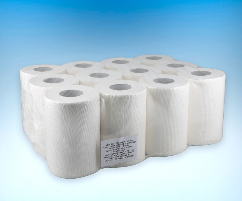 Hand towel device roll with removable core 450gr