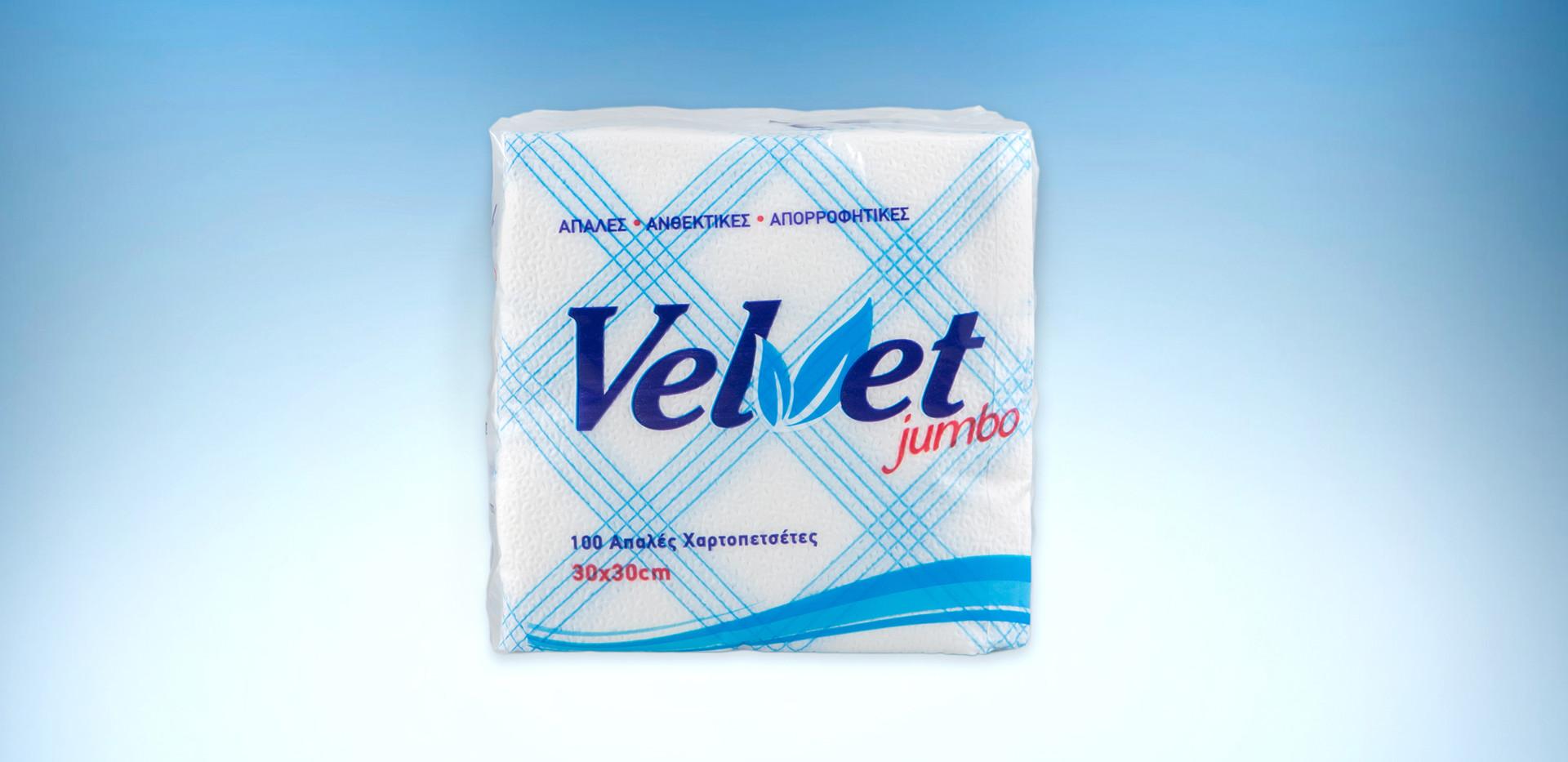 Velvet jumbo blue checkered napkins 153gr