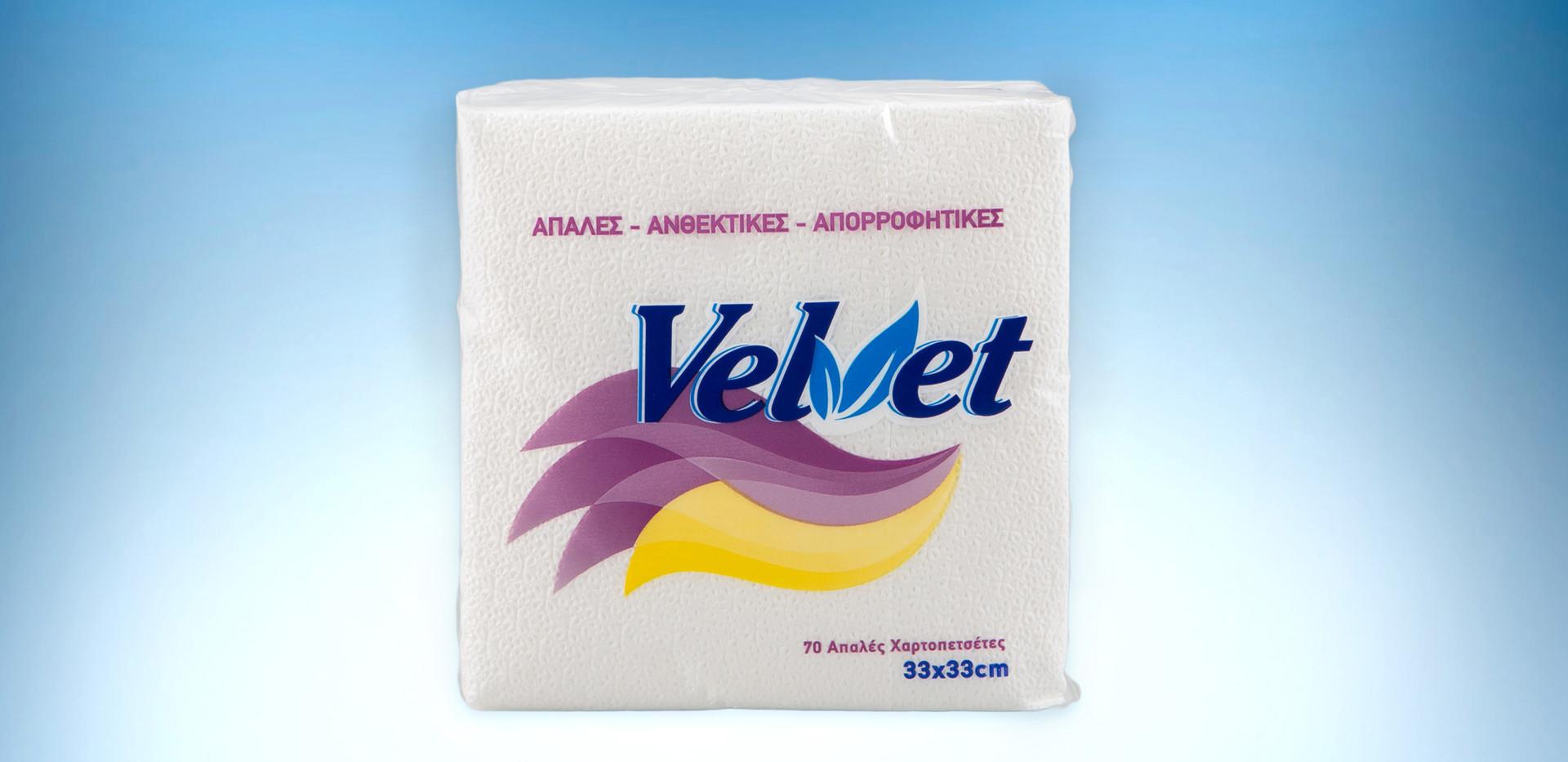Velvet white napkins 33x33 150gr