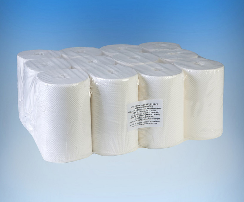 Paper towel roll without core 500gr