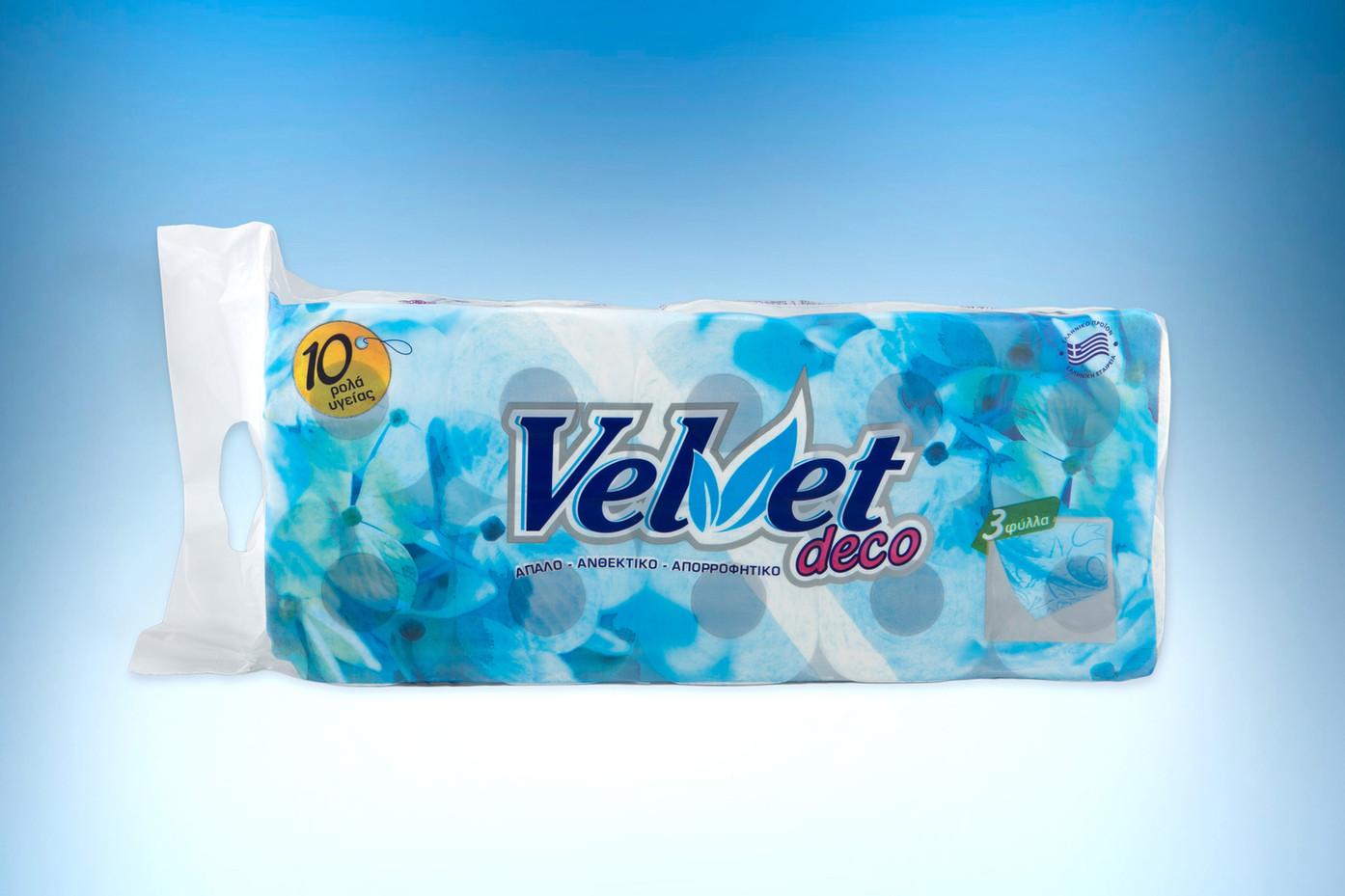 Velvet deco 3-ply toilet paper roll 120gr