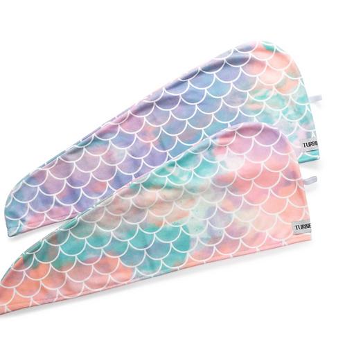 Turbie Twist Mermaid - Toalla de Microfibra para el Cabello