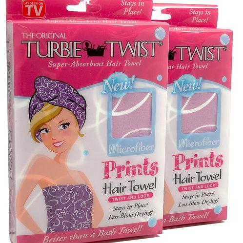 Turbie Twist Prints PINK - Toalla de Microfibra para el Cabello