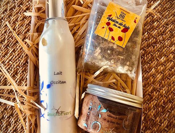 1 - Coffret cadeau 3 produits bio pour le corps.