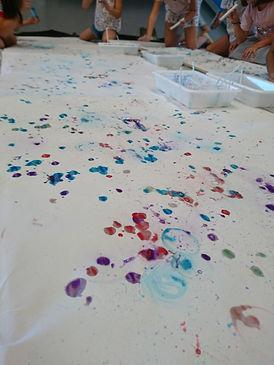 Pintura con pompas de jabón