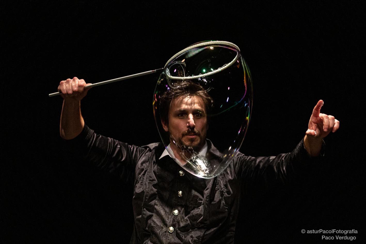 Preparando burbujas