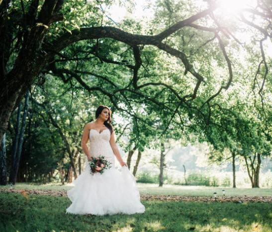 Cedar Ridge Barn Bride and Tree