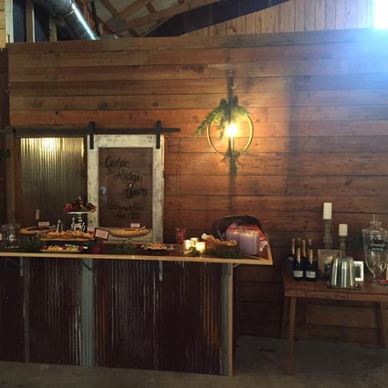 Cedar Ridge Barn Bar Area