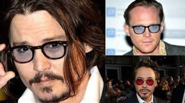 Johnny Depp's blue tinted glasses