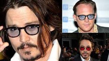 Johnny Depp's blue tinted glasses