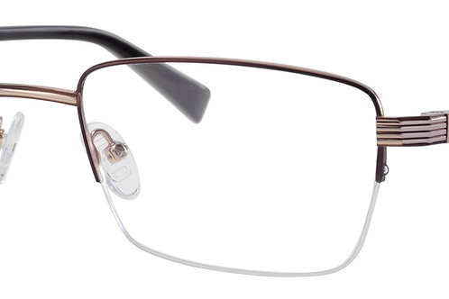 Mens Titanium FS1 720 Col 70 Brown/Gold semi rimless