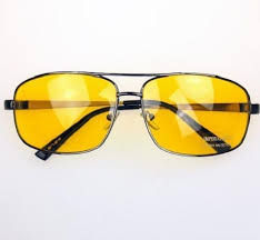 Yellow tint driving glasses