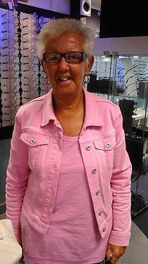 happy lady at Ilkeston factory specs
