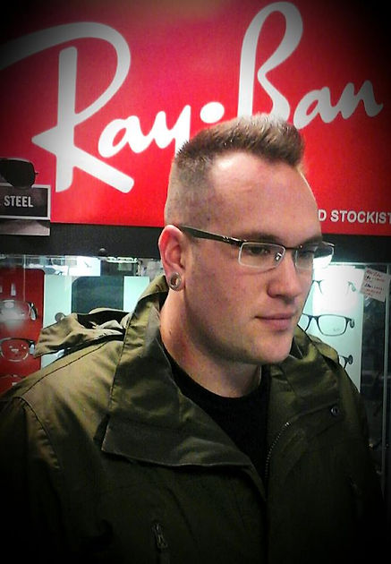 Ray ban glasses semi rimless glasses at Ilkeston Derbyshire budget cheap