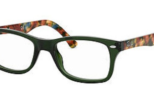 Ray Ban 5228 col 5630 Green front Havana arm