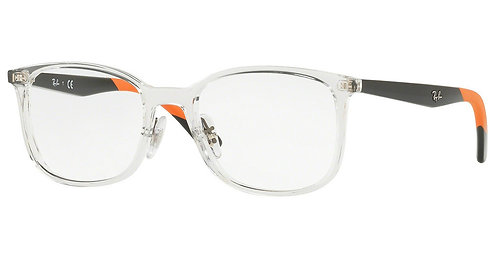 Ray Ban 7142 col 5759 Crystal Polished Black/Orange arms