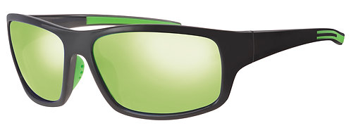 Mod 32 wrap Sunshades col 01 Black/Green