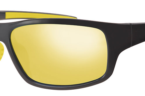 Mod 30 wrap Sunshades col 01 Black/Yellow