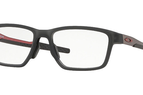 "Oakley. 0x8153-0555 Satin Grey Smoke Metalink red ""0""'s"