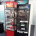 Ray-Ban and Police sunglasses