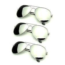 silver mirror aviator pilot glasses