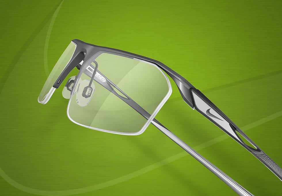 Nike semi rimless glasses