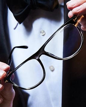 Mens plastic Tom Ford black glasses frames