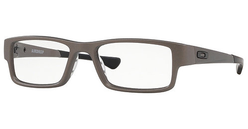 "Oakley. 0x8046-1255 Satin Lead Airdrop black tips and ""0""'s"