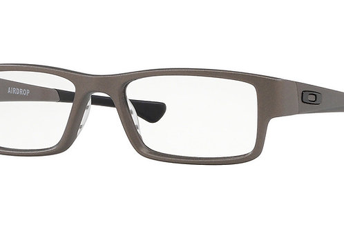 """Oakley. 0x8046-1255 Satin Lead Airdrop black tips and """"0""""'s"""