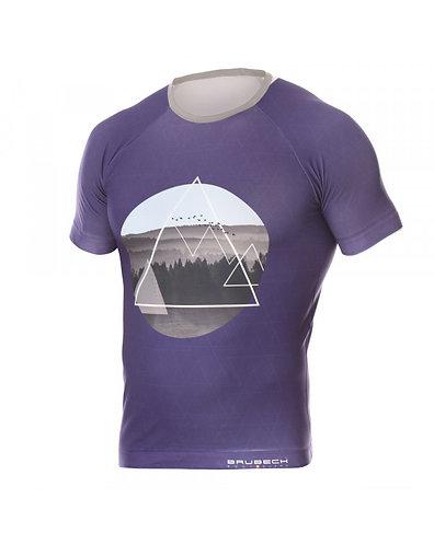BRUBECK T-Shirt Homme CITY AIR BLEU