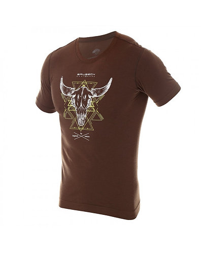 BRUBECK T-Shirt Thermique H OUTDOOR WOOL Pro Marron