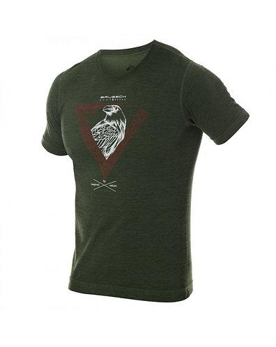 BRUBECK T-Shirt Thermique H OUTDOOR WOOL Pro VERT