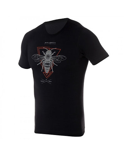 BRUBECK T-Shirt Thermique H OUTDOOR WOOL Pro Noir