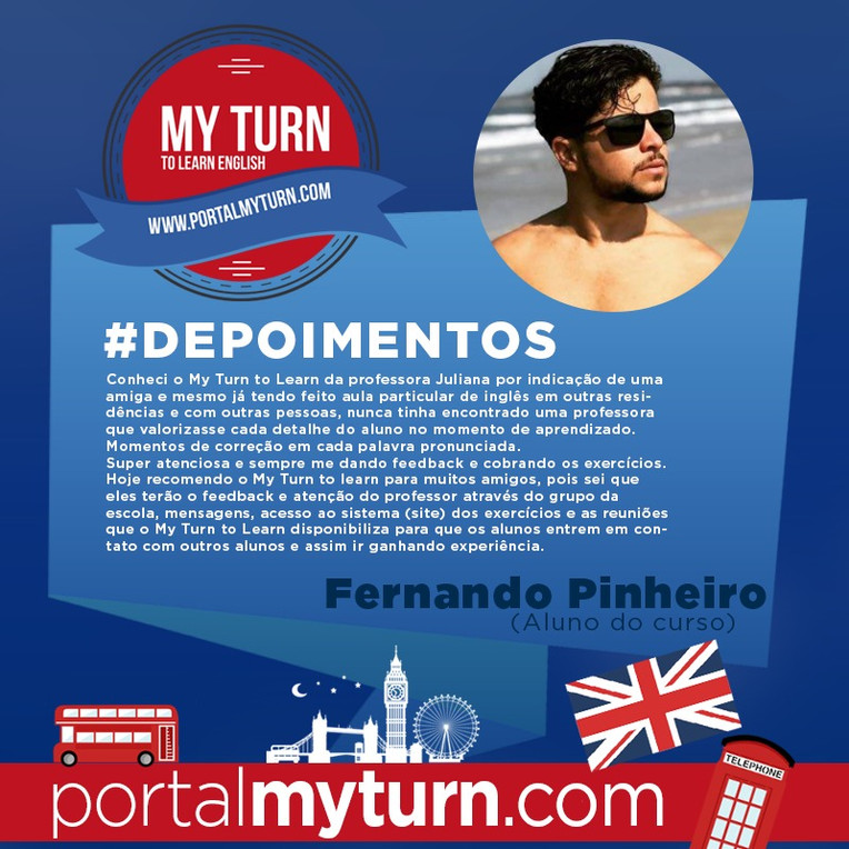 Fernando Pinheiro, aluno do My Turn To Learn